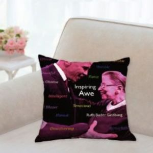 "Barack Obama & Ruth Bader Ginsberg 14"" pillow"